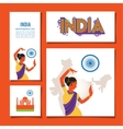 cards set designs and brochures of India vector image