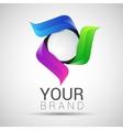 Circle Logo Design Template Infinite Loop vector image