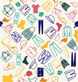 colorful pattern of Fashion men clothes vector image
