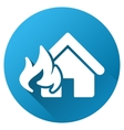Fire Realty Damage Gradient Round Icon vector image