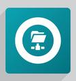 flat web folder icon vector image