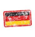 germany flag red grunge rubber stamp vector image