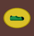 icon in flat design fashion footwear man shoe vector image