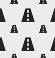Road icon sign Seamless pattern with geometric vector image