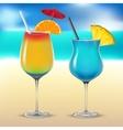 Set transparent cocktail glasses vector image
