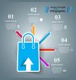 shop cart sale- business infographic vector image