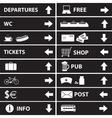 various navigation signs eps10 vector image