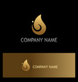 water drop gold logo vector image
