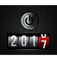 New Year counter 2016 with power button vector image