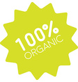 100 organic badge simple vector image