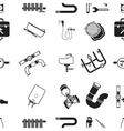 Plumbing pattern icons in black style Big vector image