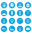 funeral and burial icon blue vector image