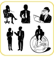 Managers and office set vector image vector image