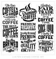 Set of Retro Vintage Coffee Labels vector image vector image