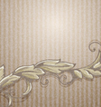 Vintage background with branch vector image