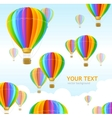 air ballons background vector image vector image