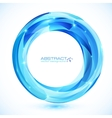 Blue shining crystal glass ring frame vector image