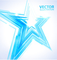 Blue star background vector image