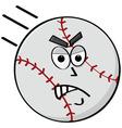 angry baseball vector image vector image