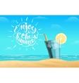 Summer lemonade in the glass vector image