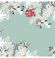 Tropical summer card design vector image