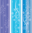 abstract winter ornaments vector image