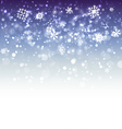 Blue Snowflake Background vector image