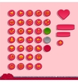 Buttons for game interfaces vector image