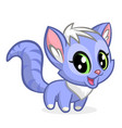 cartoon of cute cat vector image