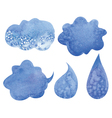 clouds and drops vector image