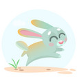 cute cartoon bunny character vector image
