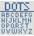 dots font poster vector image