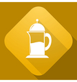 icon of Teapot with a long shadow vector image