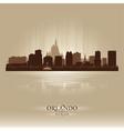 Orlando Florida skyline city silhouette vector image