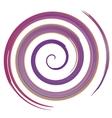 purple watercolor spiral vector image