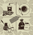 Set on a theme of coffee vector image