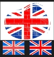 Shabby flag of Great Britain vector image