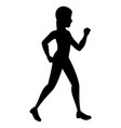 sport woman walking silhouette vector image