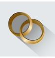 Two wedding rings Symbol of love vector image