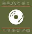 vinyl record turntable icon vector image