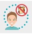 man cartoon fast food prohibited vector image