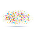 colorful bright oval cloud confetti round papers vector image