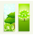 Vertical Nature banners vector image vector image