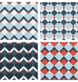Fashion patterns with squares vector image vector image