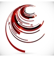 Abstract dark red spiral background vector image