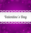 Ribbon Valentines Day vector image