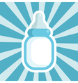 Baby Shower Bottle Icon vector image vector image