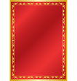 red and golden card with ornament vector image