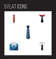 flat icon clothing set of tailoring textile vector image