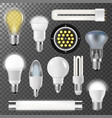 incandescent lamps light bulbs fluorescent energy vector image
